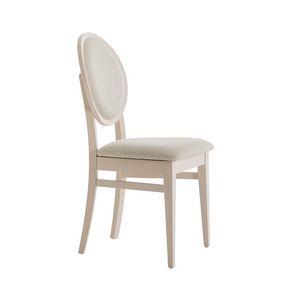 MP49H, Stuhl mit gepolsterter, runder Rückenlehne