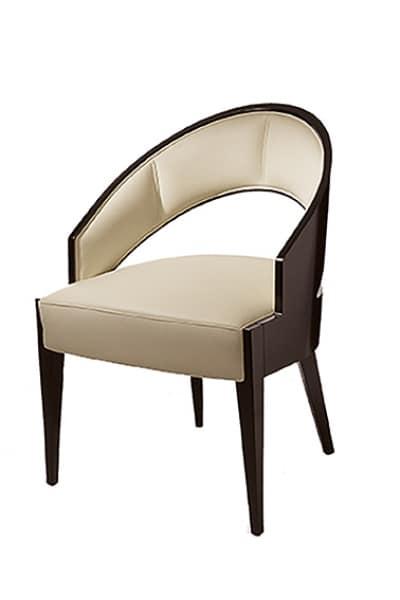 Peggy Stuhl, Stuhl mit großem Sitz, gepolsterte Rückenlehne