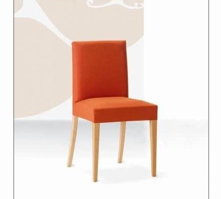Relax, Buchenstuhl mit gepolstertem Sitz und Rücken