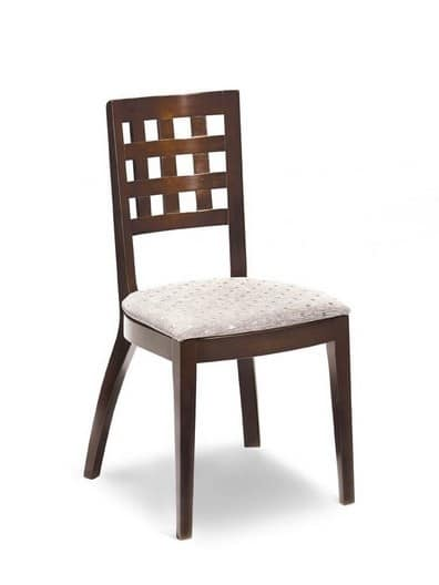 Stuhl mit gepolstertem mit SitzRückenlehne quadratischen 4AjRL35