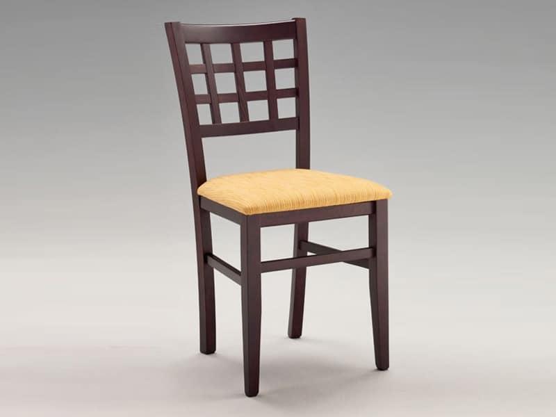 SE 427, Stuhl mit gepolstertem Sitz, Rücken mit Plätzen, für Restaurant