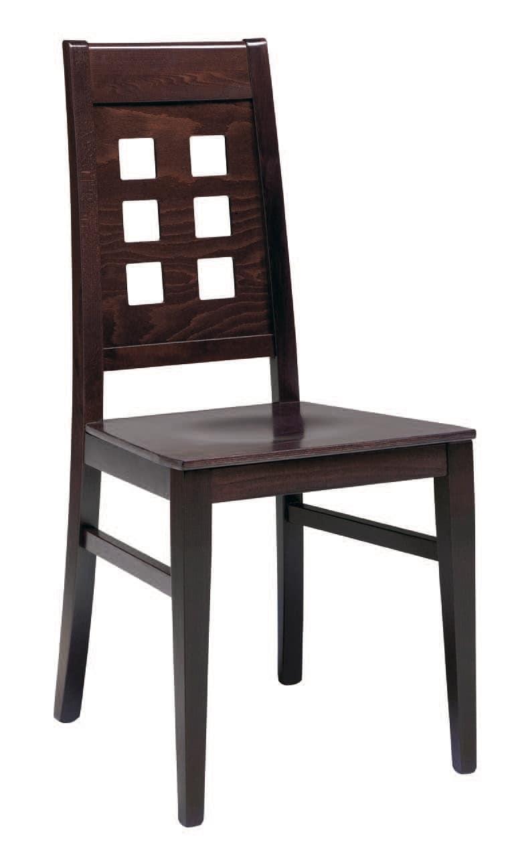 SE 490 / B, Holzstuhl, gepolsterter Sitz, Rückenlehne mit Löchern