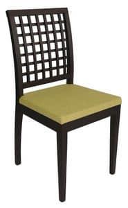 Us Nest, Moderner Stuhl für Restaurant, Holzstuhl für Pizzeria