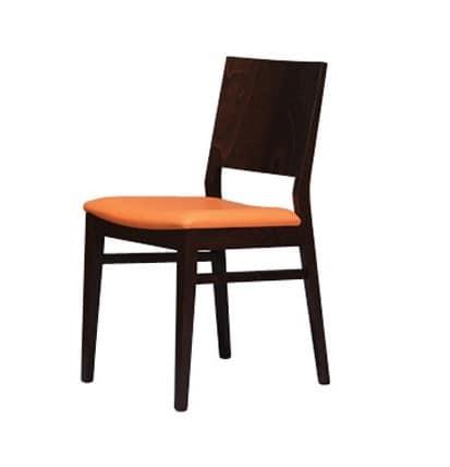 330, Eleganter Stuhl mit einem gepolsterten Sitz, zum Frühstücksraum