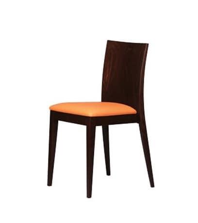 331 STK, Gepolsterten Stuhl in der Buche, flache Rückenlehne, Esszimmer