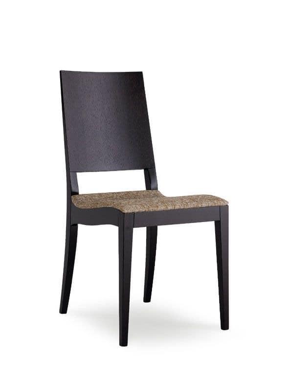 Designer stuhl in buche verschiedene versionen f r die for Holzstuhl mit leder