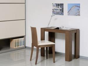 Complementi Sedia 04, Stuhl mit gepolstertem Sitz und Rückenlehne aus Massivholz