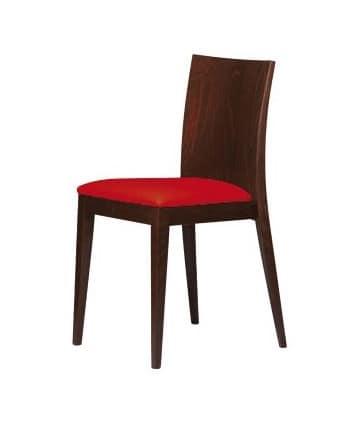 M16, Holzstuhl, gepolsterter Sitz, der Bars, Restaurants
