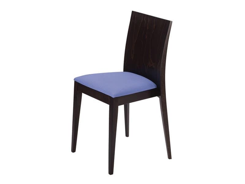 Masha/S/imb, Gepolsterte stapelbarer Stuhl, für Bars und Restaurants