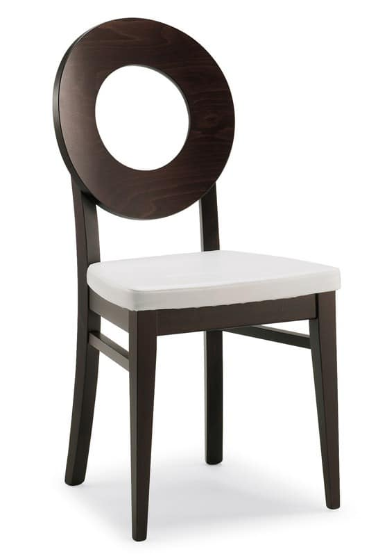 SE 47 / U, Holzstuhl, in Kunstleder überzogen, moderner Stil, für die Gaststätten
