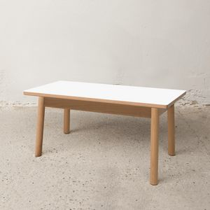 Niedriger Tisch 75x40 cm, Outlet Couchtisch aus Holz