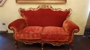 3195 SOFA, Klassisches Sofa aus rotem Samt