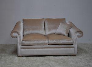 Chelsea Sofa, Bequeme Steckdose Sofa in Samt