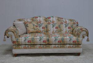 Rebecca Sofa 2p, Klassisches Sofa mit floralem Stoff