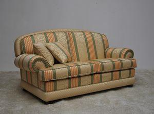 Toledo Sofa, Klassisches Sofa mit gestreiftem Stoff