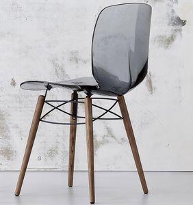 Loto W, Steckdose Stuhl aus Holz und Kunststoff