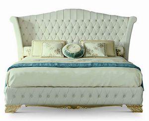 4640, Bett mit gepolstertem Kopfteil
