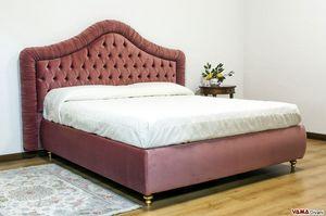 Agnese, Klassisches Bett mit Capitonnè-Kopfteil und gepolstertem Rahmen