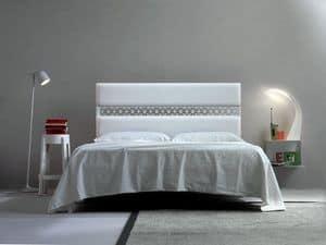Ajour, Doppelbett, Polsterkopfteil, weiche Linie
