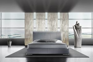 CENTAUREA, Doppelbett mit gepolstertem Bettrahmen