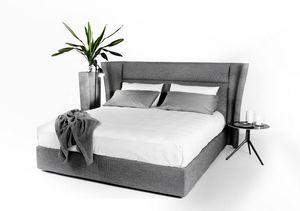 David, Modernes Bett mit umlaufendem Kopfteil