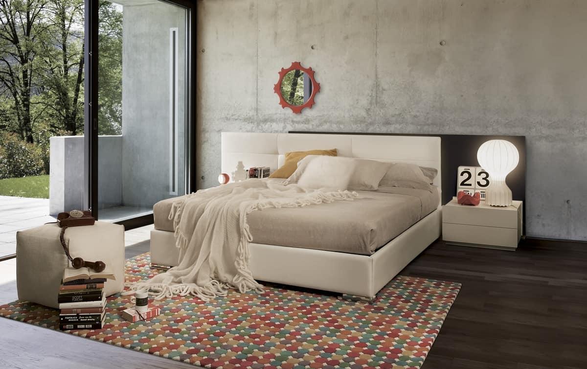 Bett Aus Holz Mit Gepolstertem Kopfteil ~ HOME P11 Design Produkte Betten modern Design gepolstert