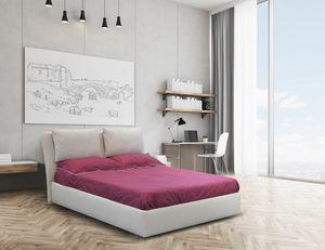 Echo, Doppelbett mit gepolsterter Struktur
