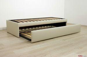 Einzelbett mit ausziehbarem zweiten Bett, Ausziehbares Doppel-Ausziehbett, das zu einem Doppelbett wird