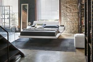 ELBA BD444, Doppelbett mit buit - in gepolsterten Nachttisch