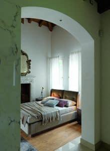 ELYSEE Bett version Chimera, Voll gepolstertes Designbett, für moderne Schlafzimmer