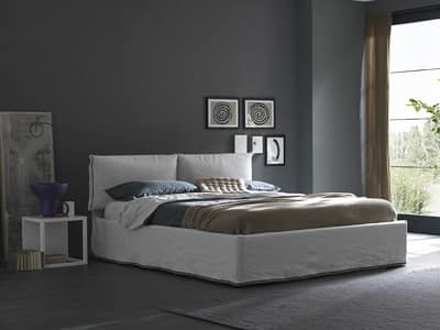 pin bett und kopfteil brimnes von ikea via home network flickr on pinterest. Black Bedroom Furniture Sets. Home Design Ideas