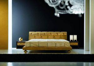 Joyce Bett, Klassisches Bett mit gepolstertem Kopfteil