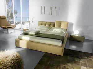 Lerry, Gepolsterte Bett, mit komplett abnehmbarem Stoff