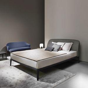Manda Bett, Doppelbett, mit gepolstertem Kopfteil