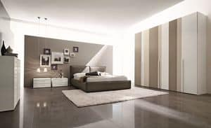 Manhattan, Modernes Doppelbett für Hotels und Zimmer