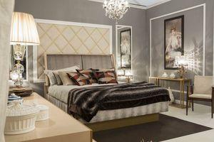 Miami Bett, Elegantes Bett mit gepolstertem Kopfteil