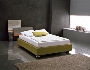 OLIVIERO, Gepolstertes Bett mit Behälter