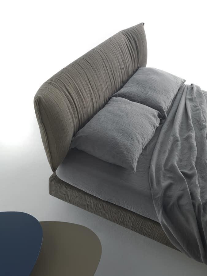 bett mit kopfteil und bettgestell gepolstert weich und. Black Bedroom Furniture Sets. Home Design Ideas