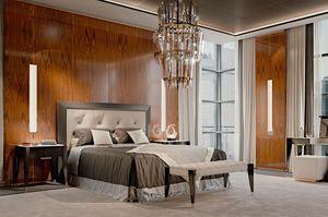 PARK AVENUE Bett, Luxusbett mit Lederkopfteil