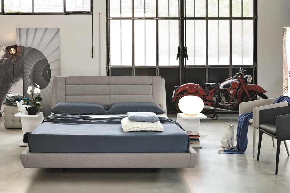 doppelbett mit elektronischen steuersystem idfdesign. Black Bedroom Furniture Sets. Home Design Ideas