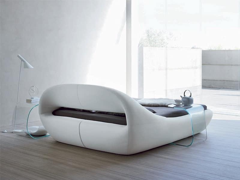 elegante doppelbett gepolstert mit einer urspr nglichen. Black Bedroom Furniture Sets. Home Design Ideas