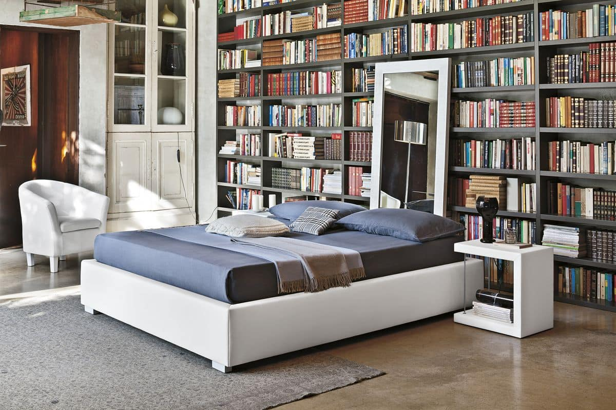 Sommier bd451 polsterdoppelbettmit 2 ideal für moderne schlafzimmer