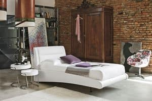 STROMBOLI SB439, Einzelbett mit gepolstertem Kopfteil, Wirkung der Luft floating