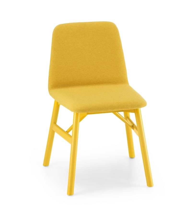 ART. 0030-1 BARDOT, Stuhl mit weichen Design in gepolsterten Holz