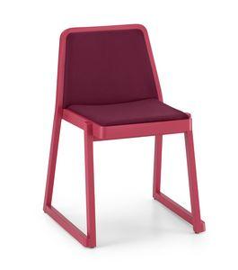 ART. 0041-IMB ROXANNE, Bequemen gepolsterten Stuhl, stapelbarer Stuhl