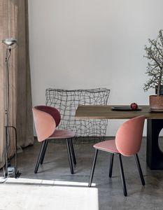 Dua wood, Design Stuhl mit Stoff bezogen