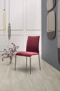 KOSMOS, Stuhl aus Stoff oder Leder bezogen, mit oder ohne Armlehnen