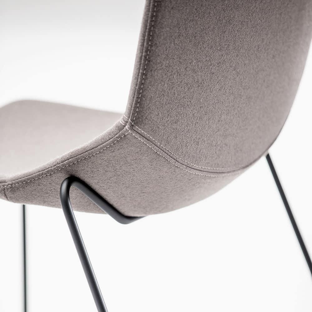 Formula Slim SL, Stuhl aus Metall, auf Kufen, gepolstert Schale