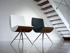 MANIA, Stuhl mit gebogenem Sitz und Rückenlehne