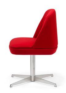 Noemi 2, Chaise rembourrée avec base à rayons